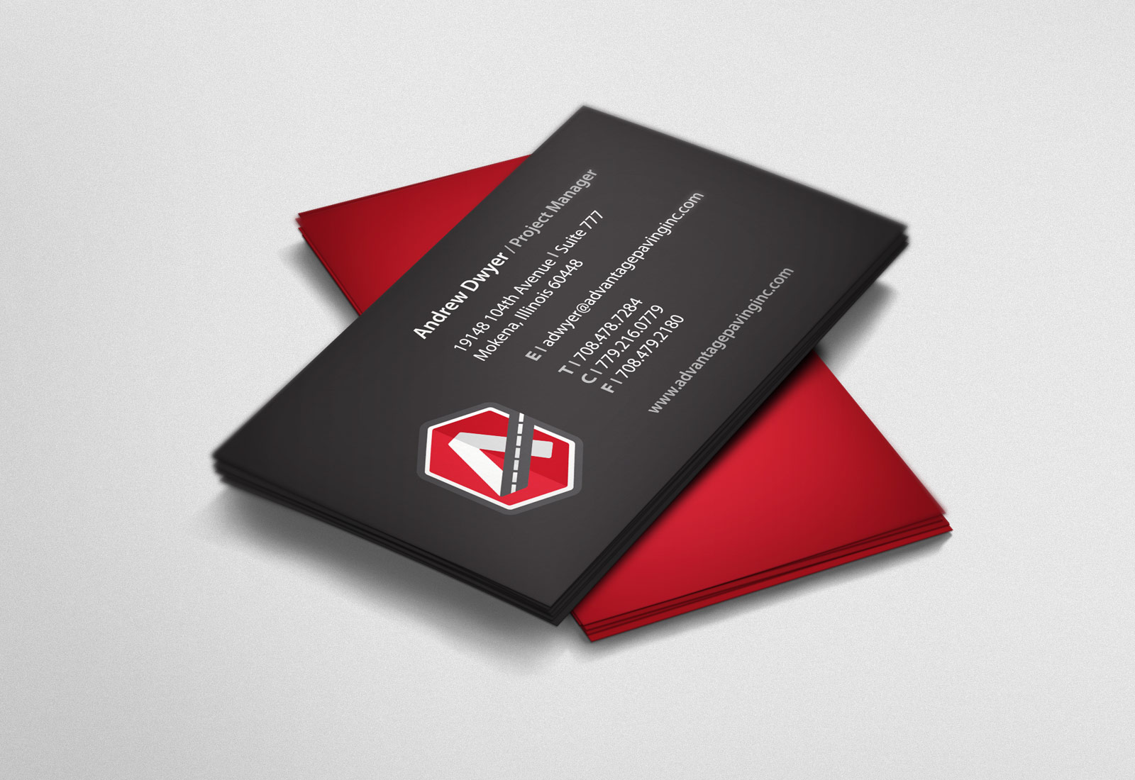 Advantage Paving Business Cards
