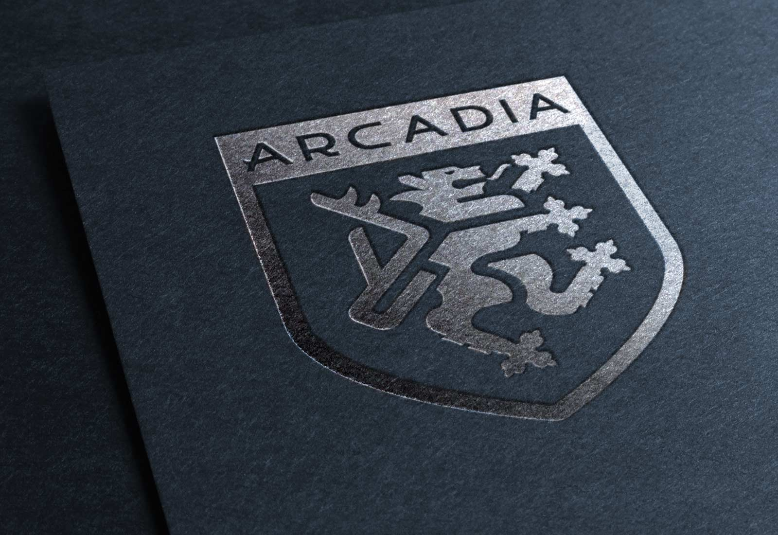Arcadia Wealth Group Foiled Logo