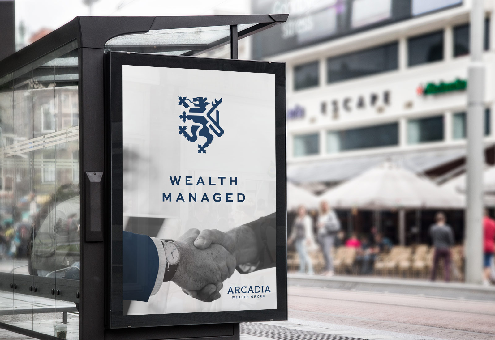 Arcadia Wealth Group Outdoor Signage