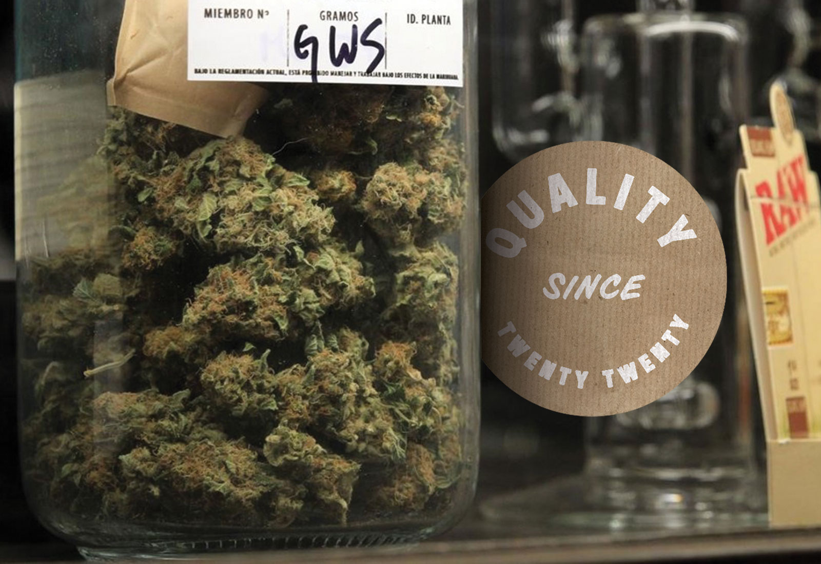 Cannabliss Dispensary Product on Shelf with Tagline