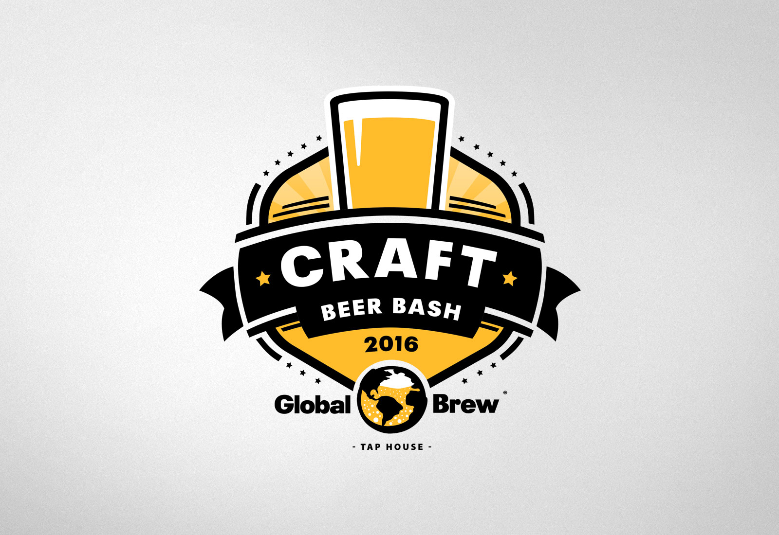 Global Brew Logo Craft Brew Bash Logo
