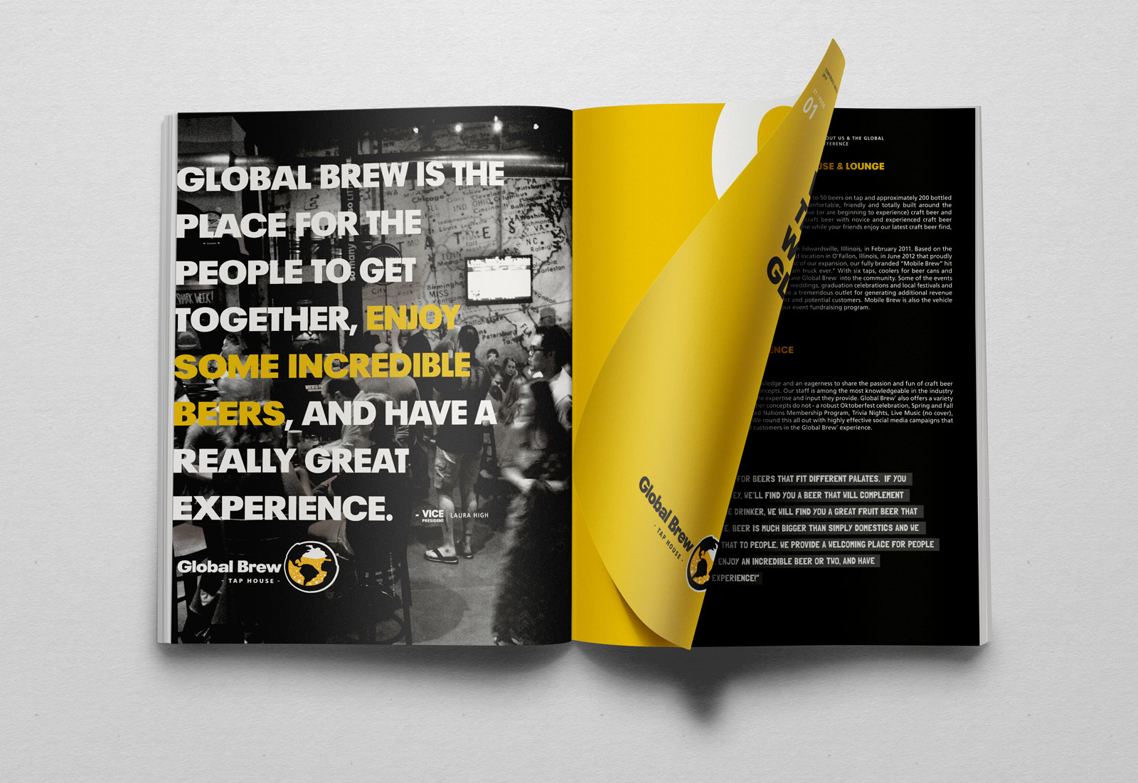 Global Brew Tap House Brochure