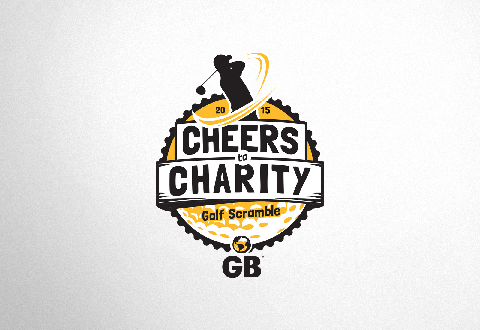 Global Brew Logo Cheers To Charity Logo