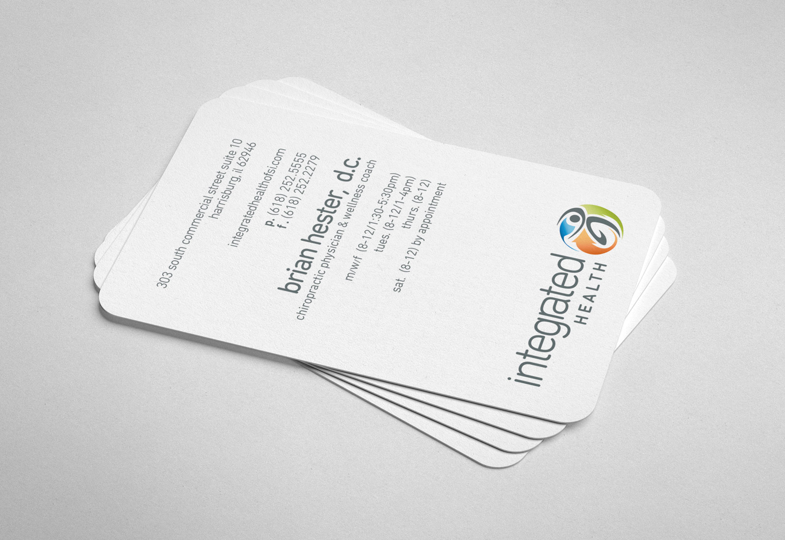 Integrated Health Of Southern Illinois Business Cards Design