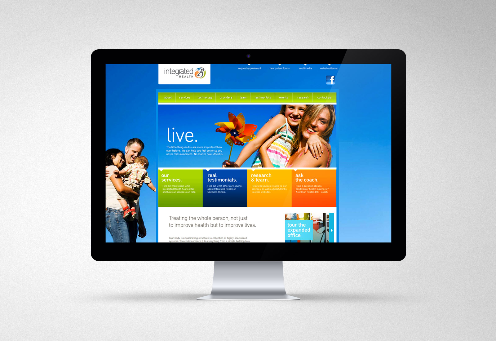 Integrated Health Of Southern Illinois Website Design