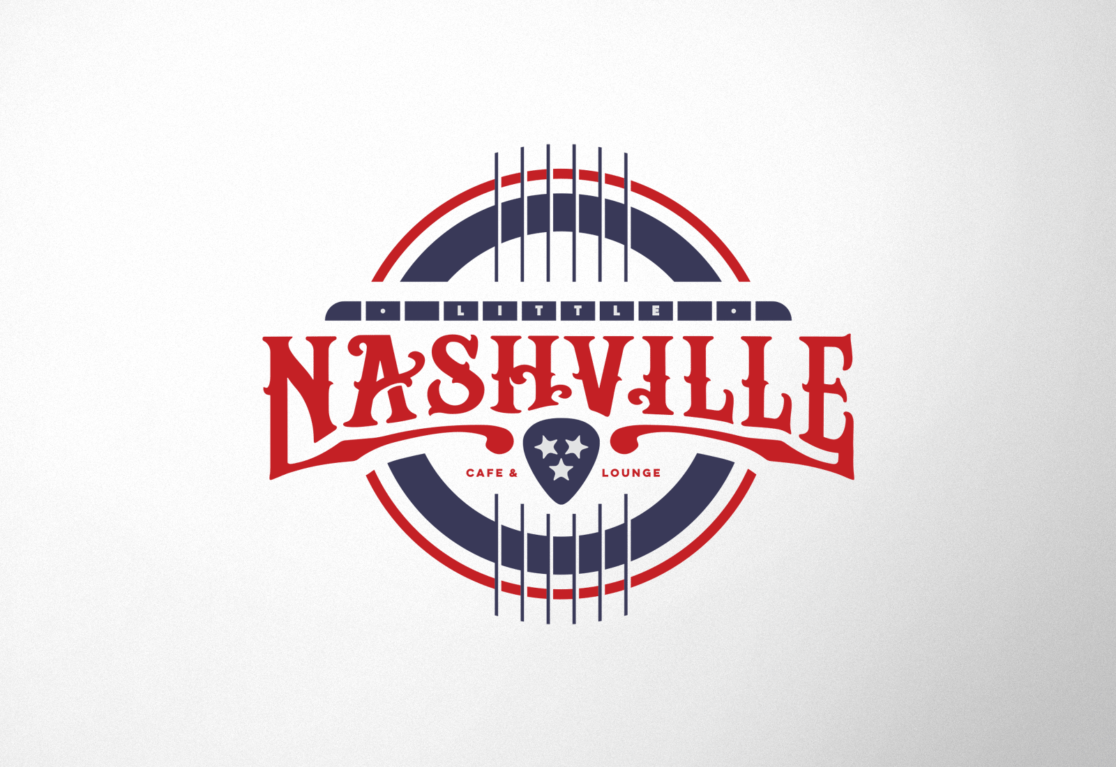 Little Nashville Music Venue Logo Design