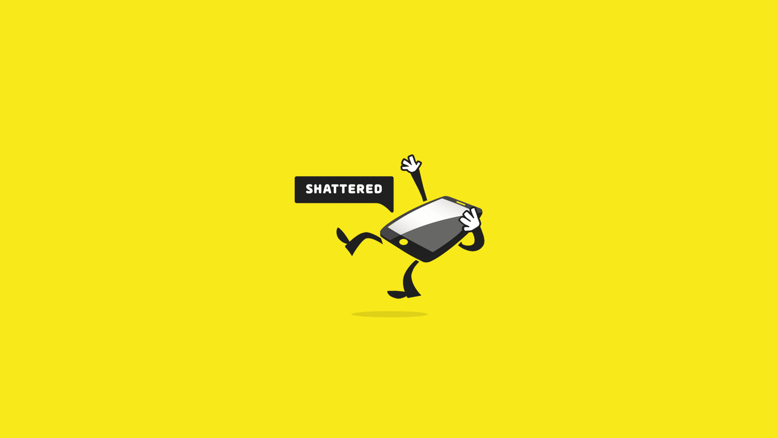 Shattered Screen Repair Logo Design In Progress