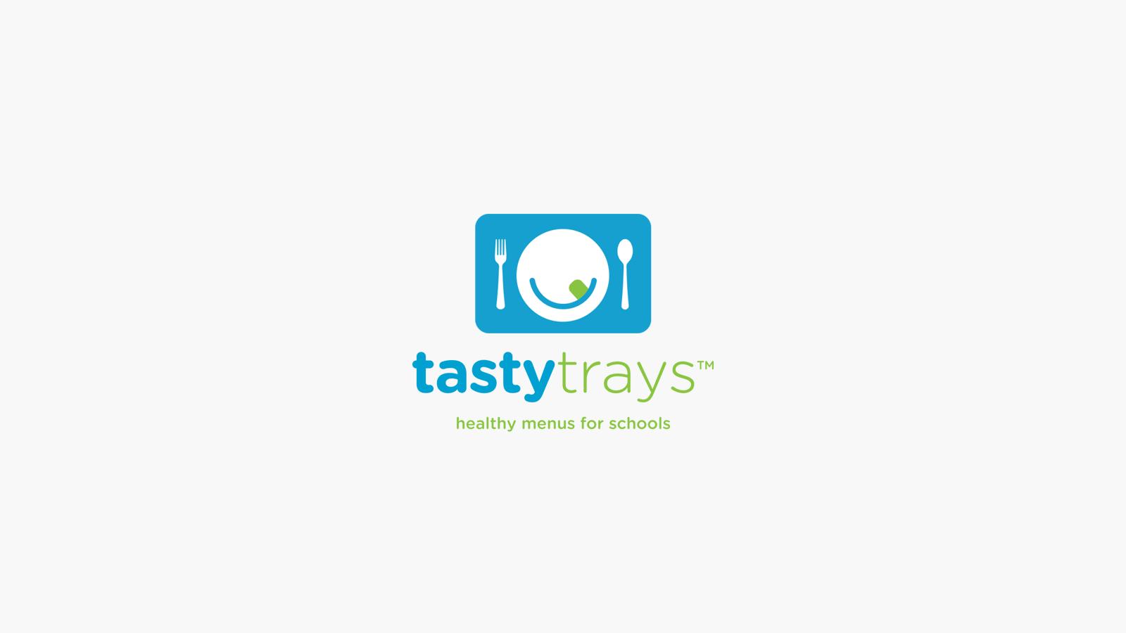 Tasty Trays Logo Design Healthy Meal Plan School Lunch