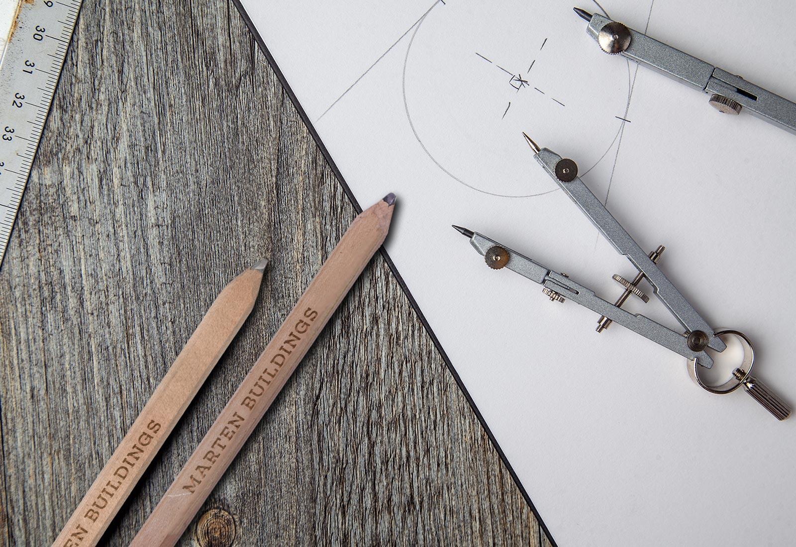 Marten Portable Buildings Carpenters Pencil and Drafting Tools