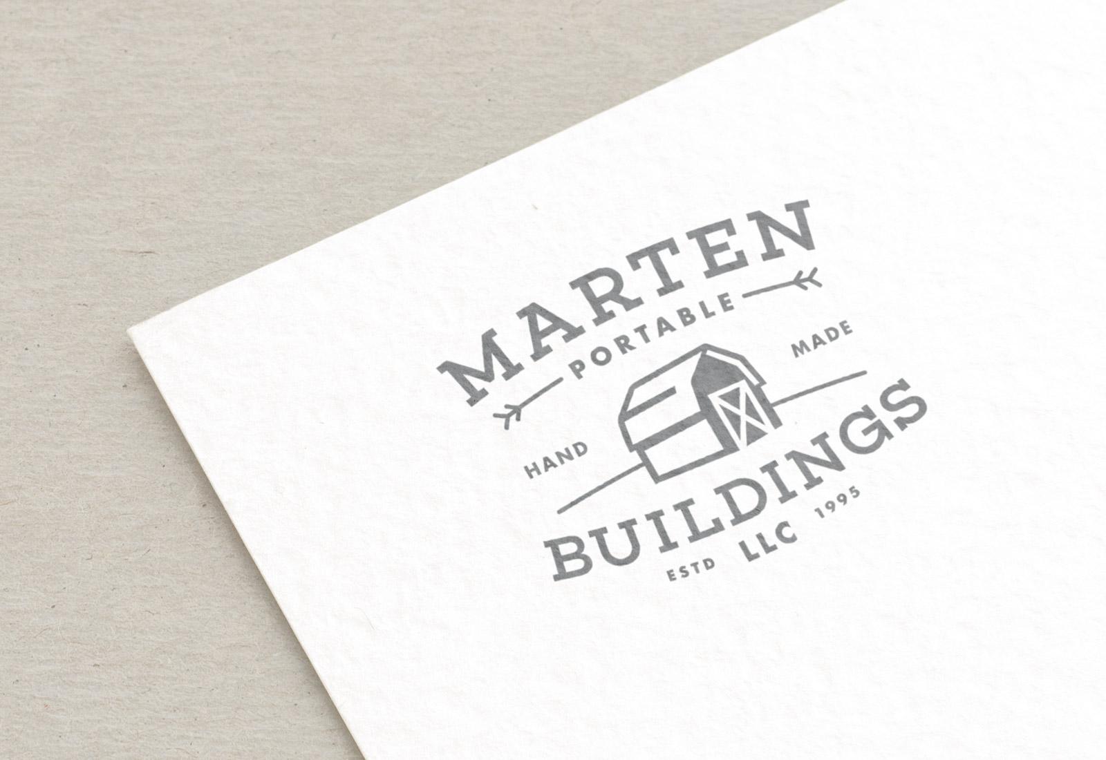 Marten Portable Buildings Logo Rendering