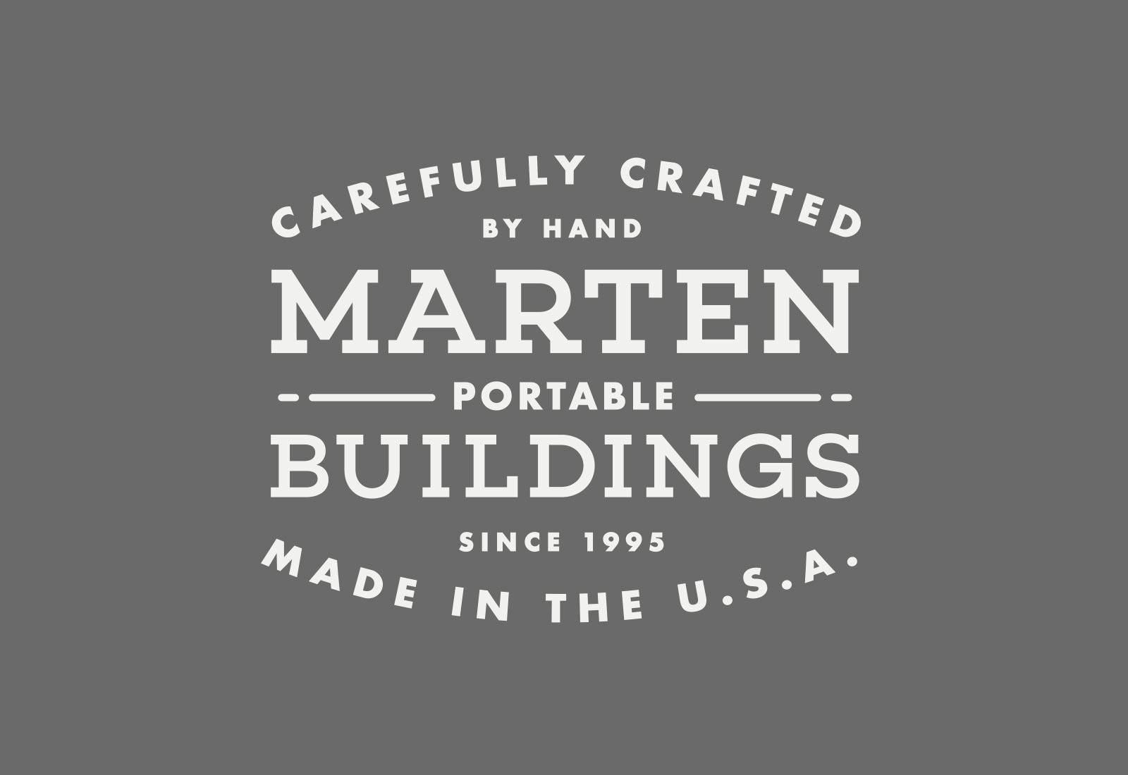 Marten Portable Buildings Logo View 3