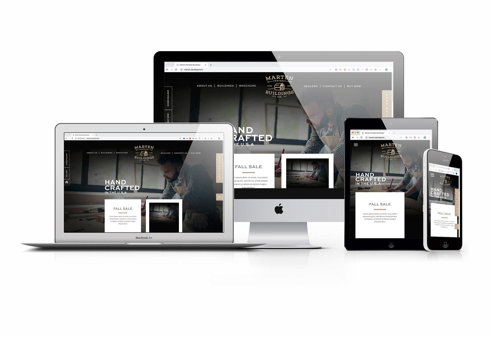 Marten Portable Buildings New Website