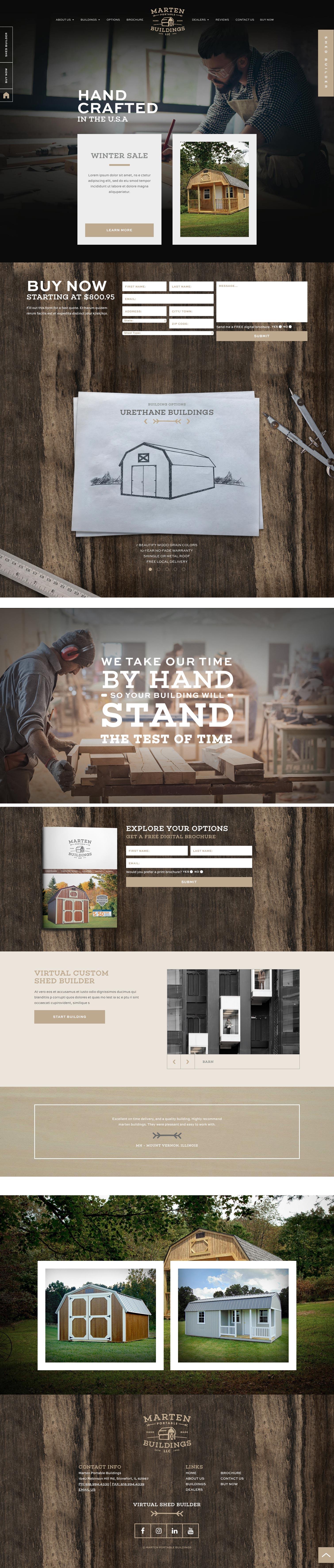 Marten Portable Buildings New Website Scrolling Version