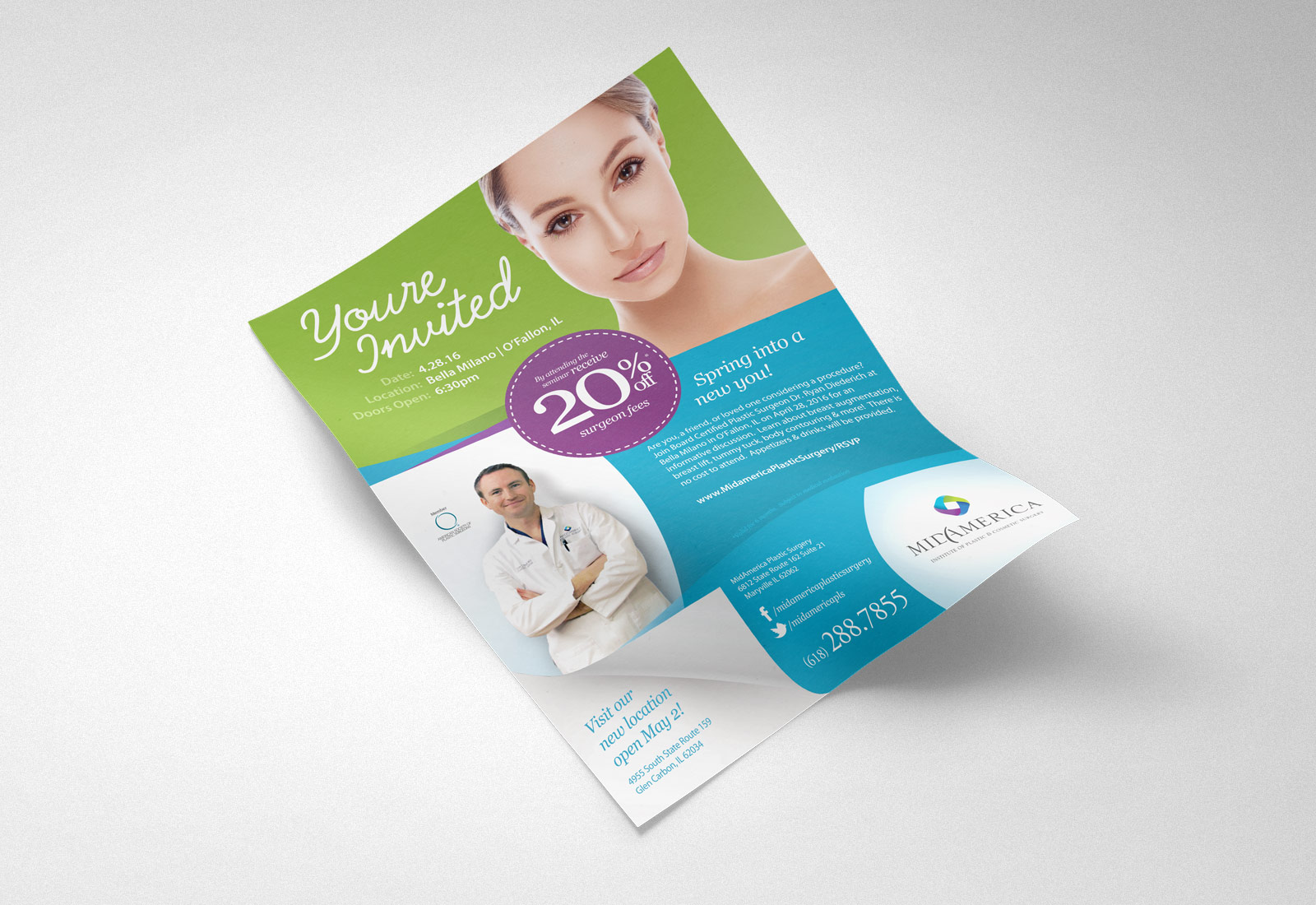 MidAmerica Plastic Surgery Ad Design