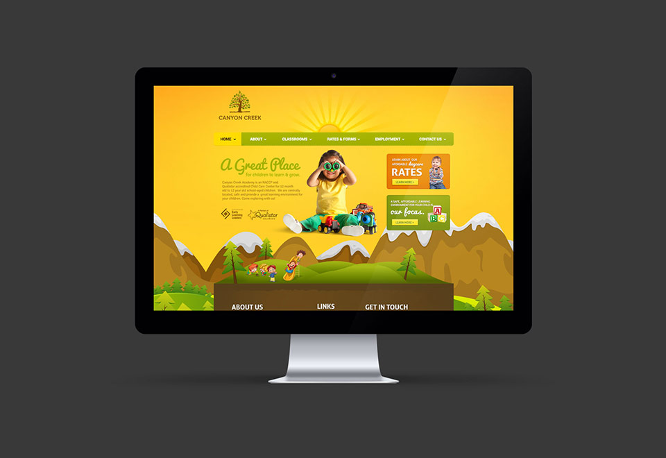 Daycare Center Website Design