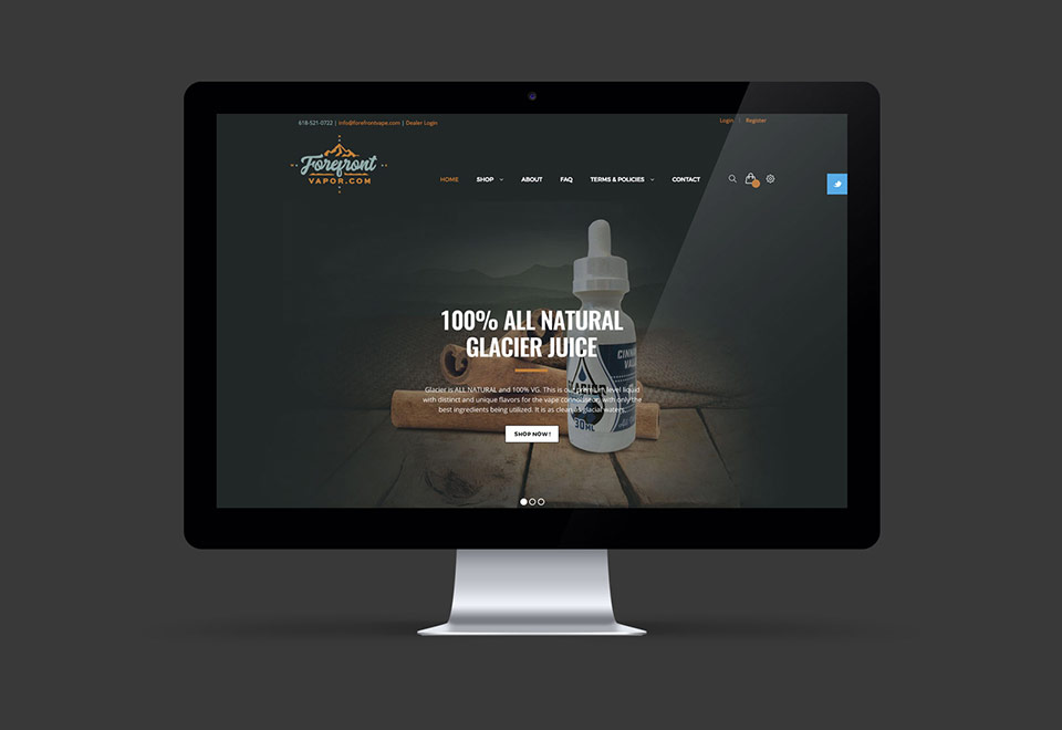 Vape Shope Website Design