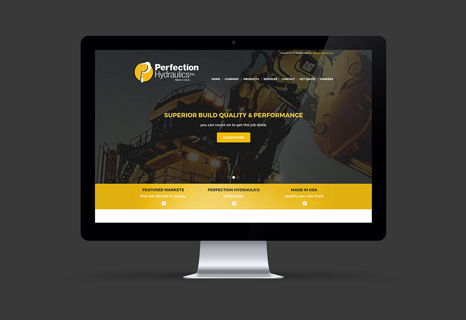 Hydraulics Company Website Design