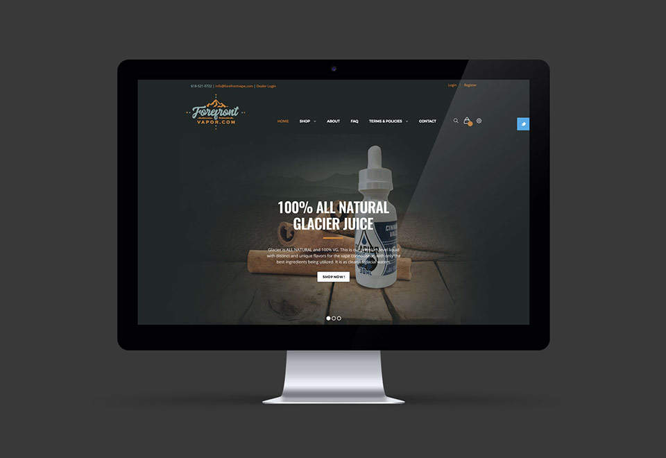 ForeFront Vape Websiste