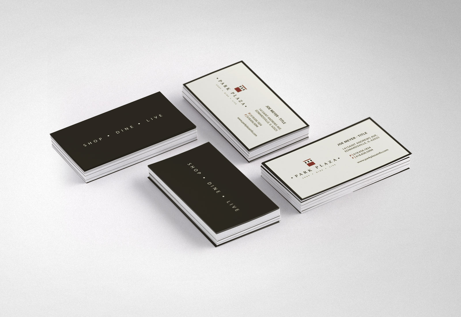 Park Plaza Edwardsville Business Card Design