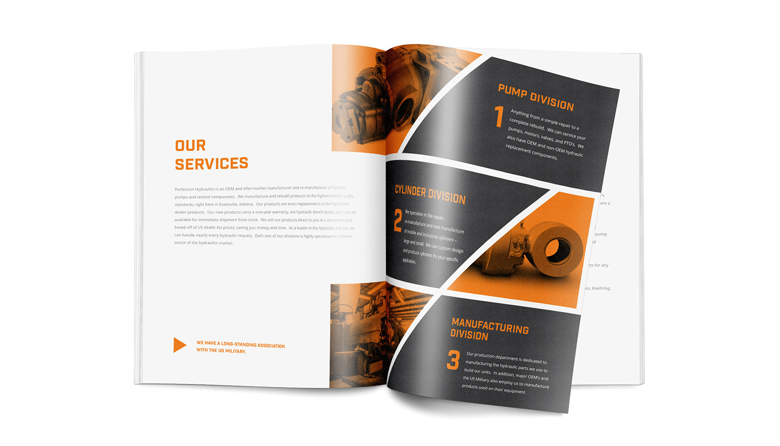 Perfection Hydraulics Brochure Design Layout and Printing Design View 1