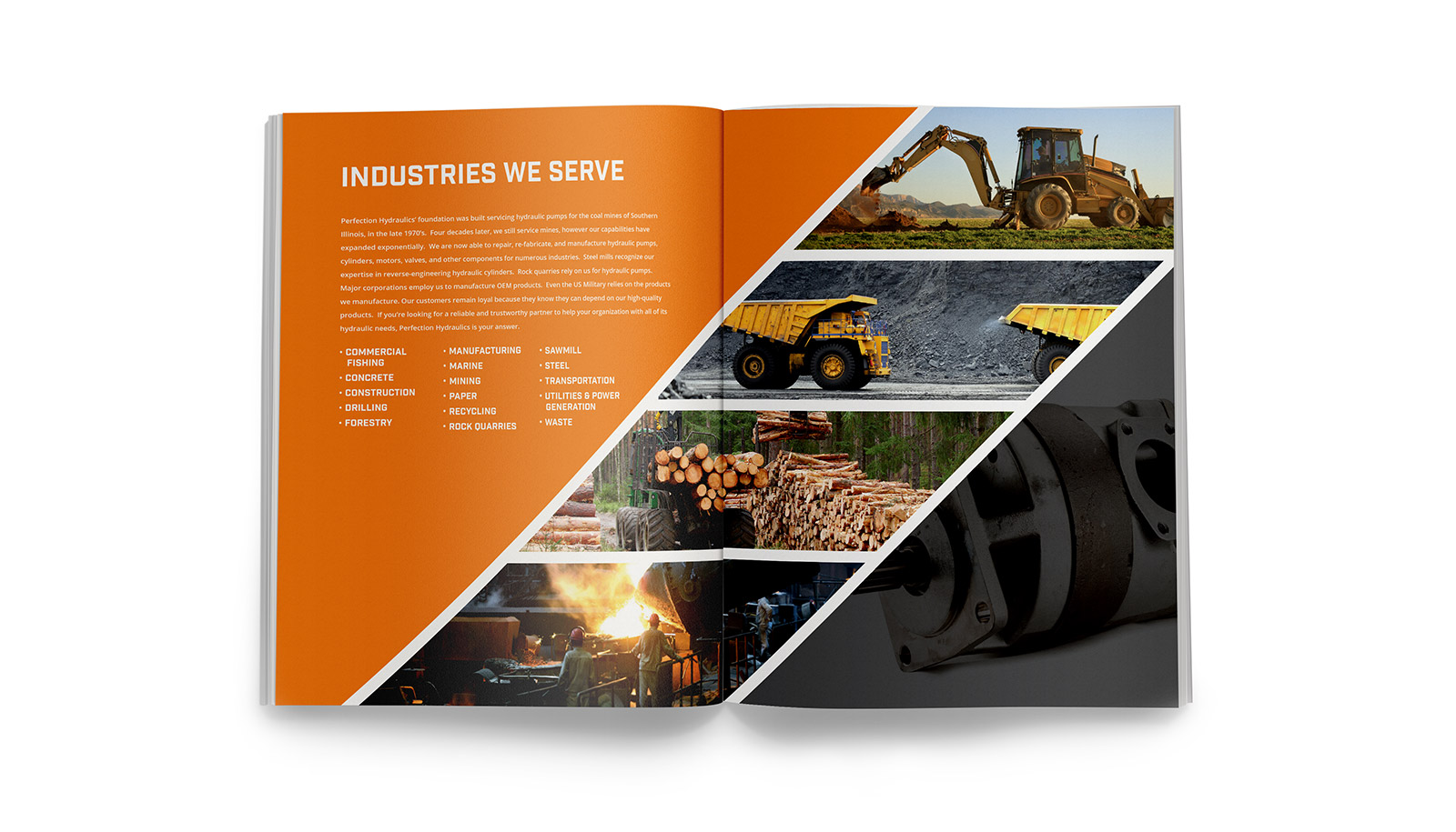 Perfection Hydraulics Brochure Design Layout and Printing  Design View 2