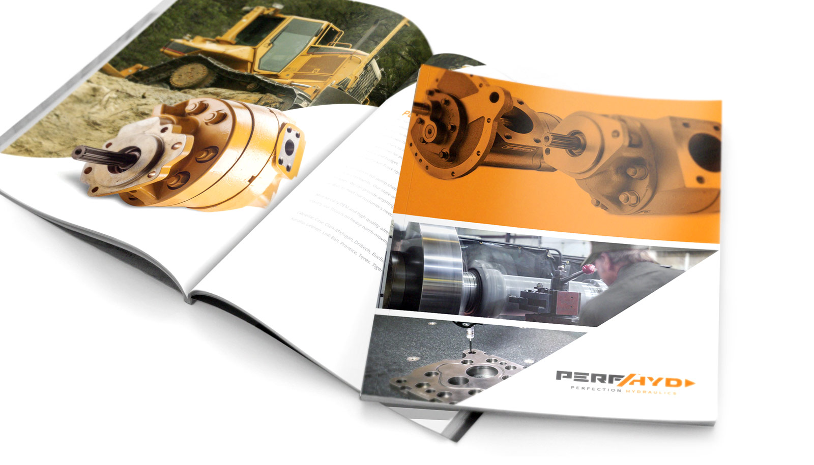 Perfection Hydraulics Brochure Cover Design & Printing for Indiana Companies