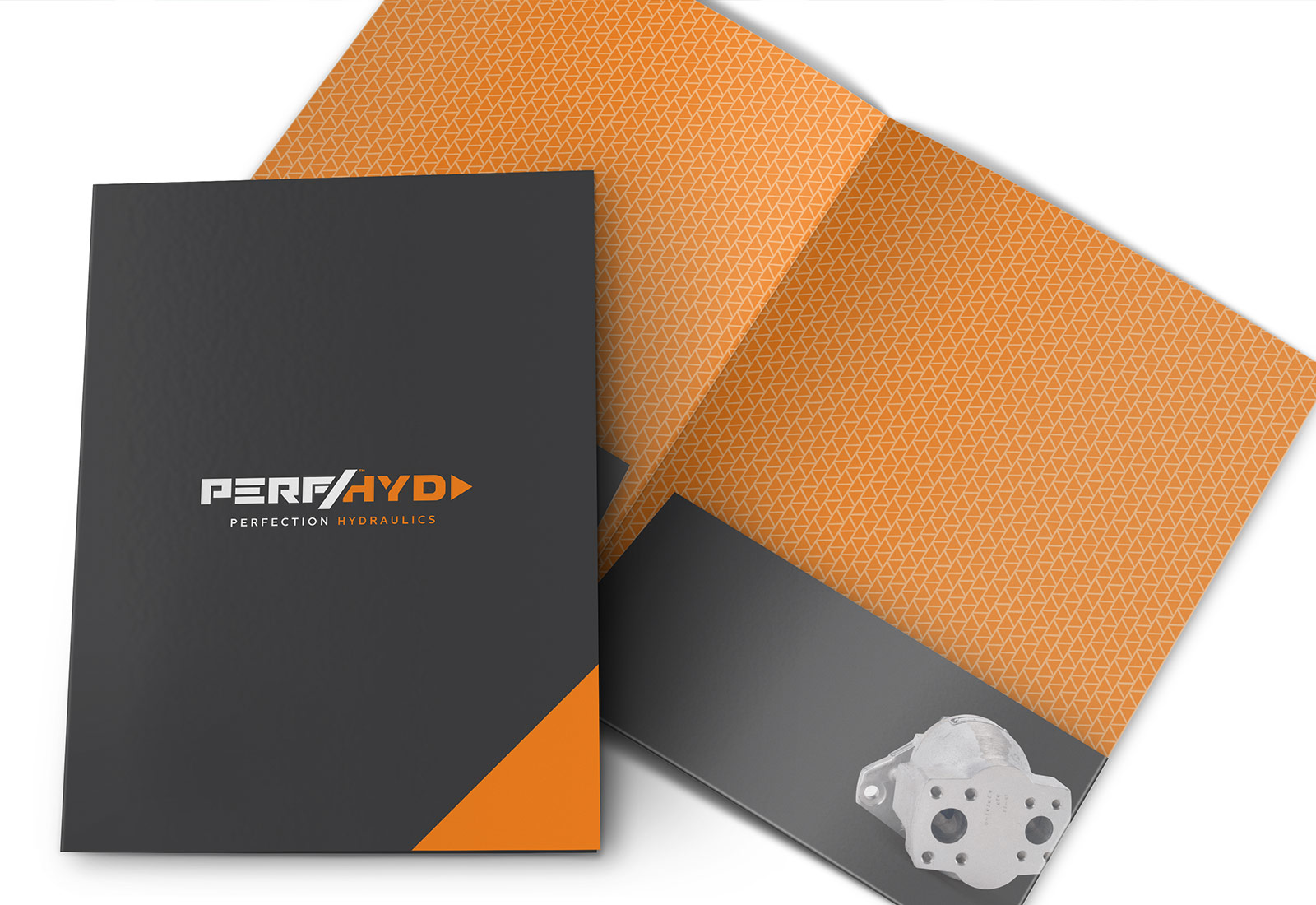 Promotional Folder design and printing for Perfection Hydraulics in Evansville Indiana