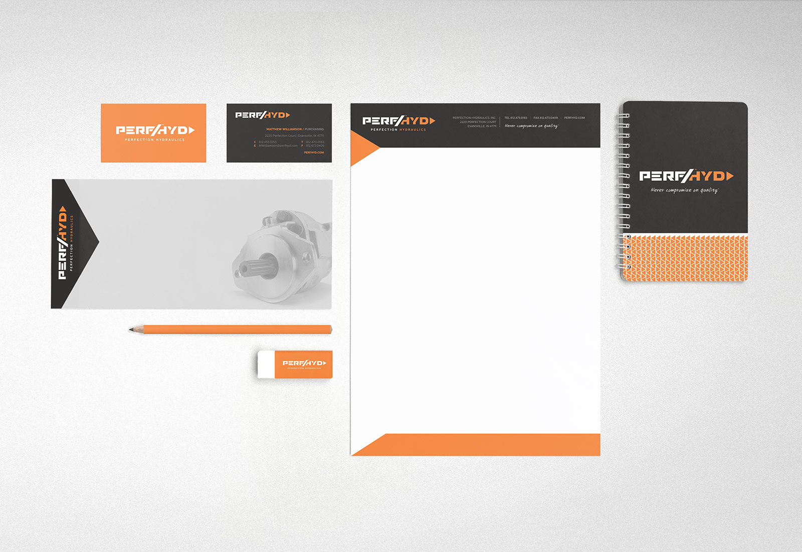 Stationary Design and Printing for Hydraulics Company in Indiana