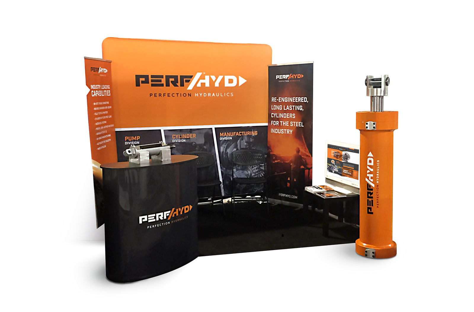 Perfection Hydraulics Trade Show Both Design & Printing for Hydraulics Company