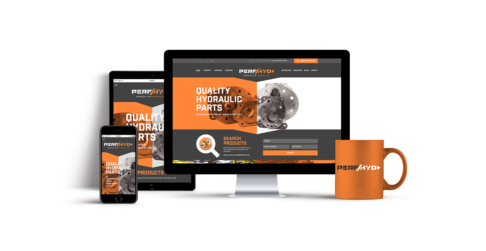 Perfection Hydraulics Responsive Website Design