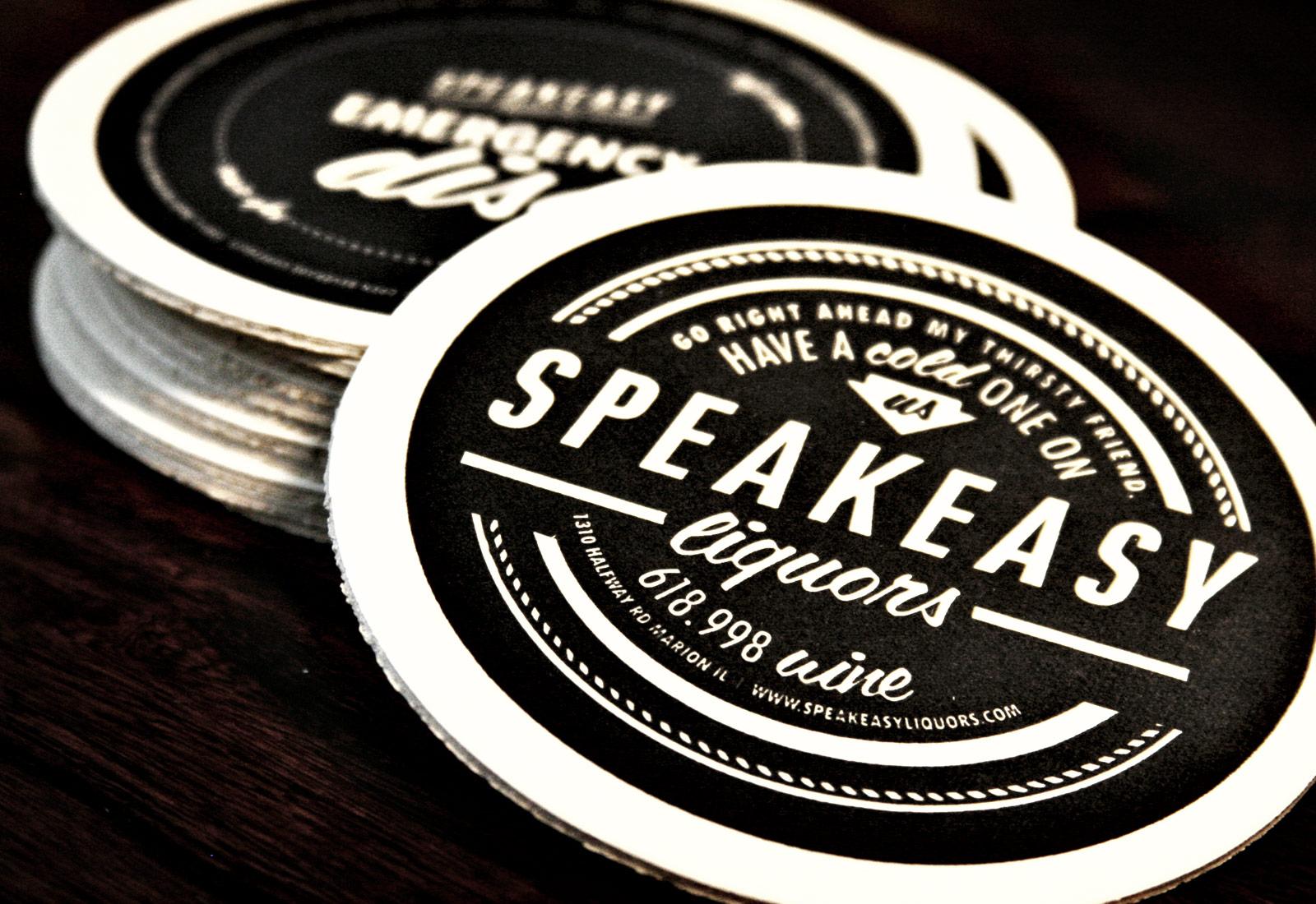 Speakeasy Liquors Coasters
