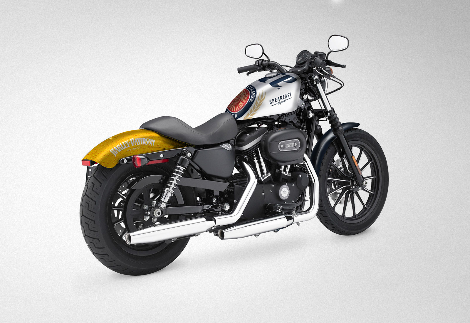Harley Davidson 883 Miller Lite Throwback