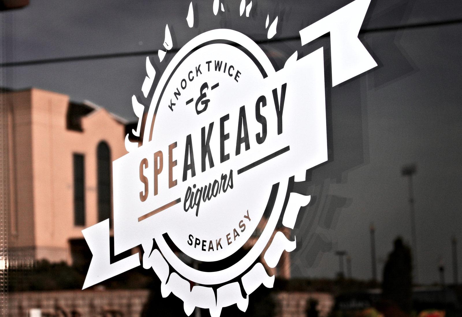 Speakeasy Liquors Logo Door