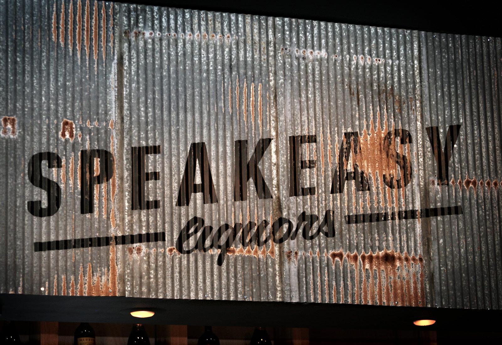 Speakeasy Liquors Metal Sign