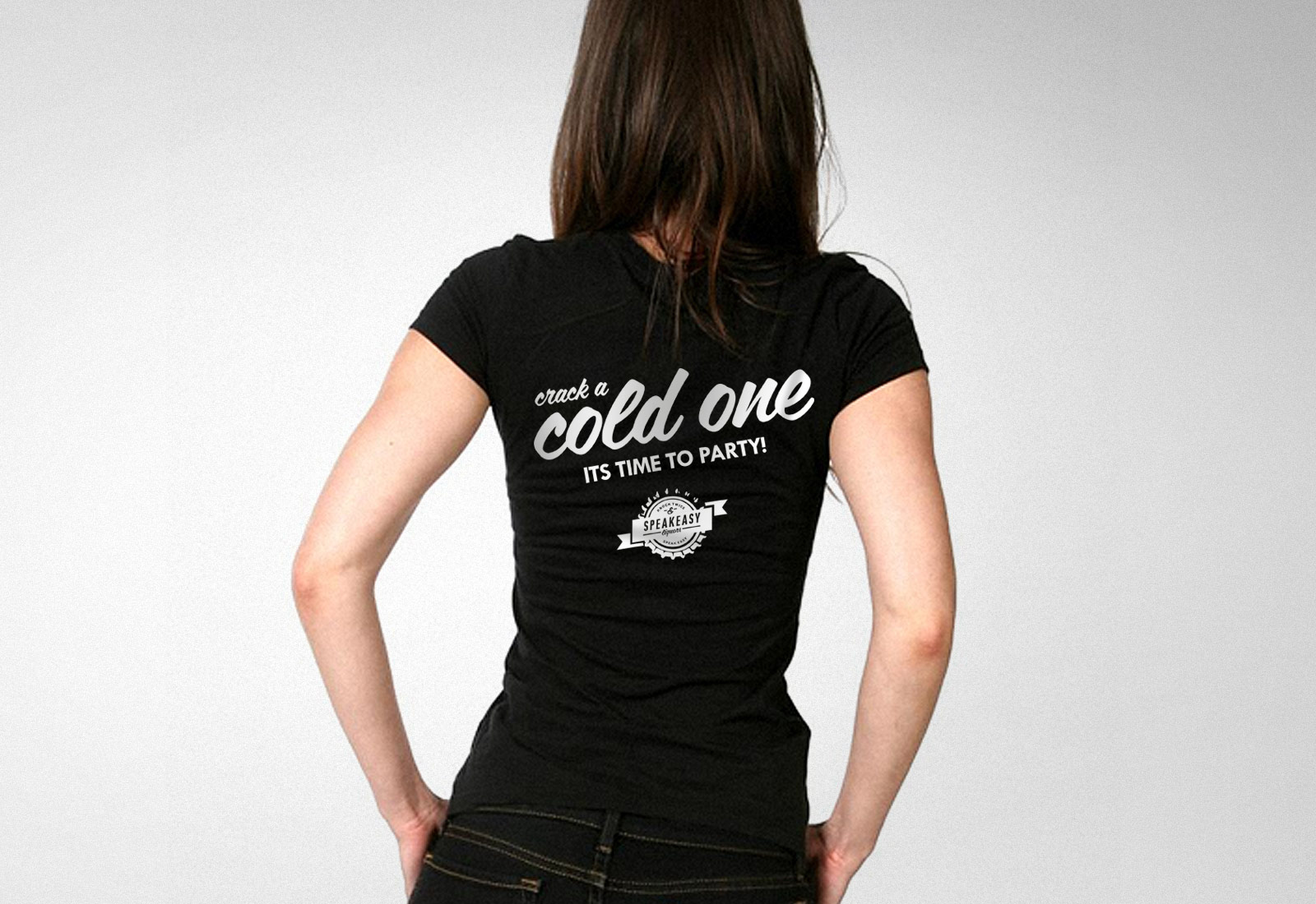 Speakeasy Liquors Tshirt Cold One