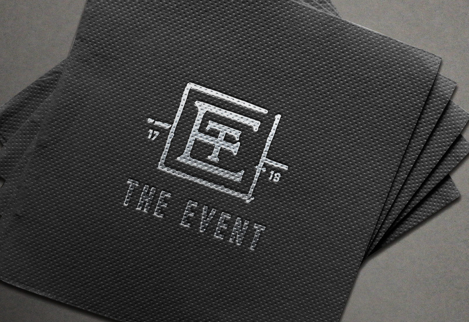 Custom Foil Logo Designed Napkins for New Years Eve