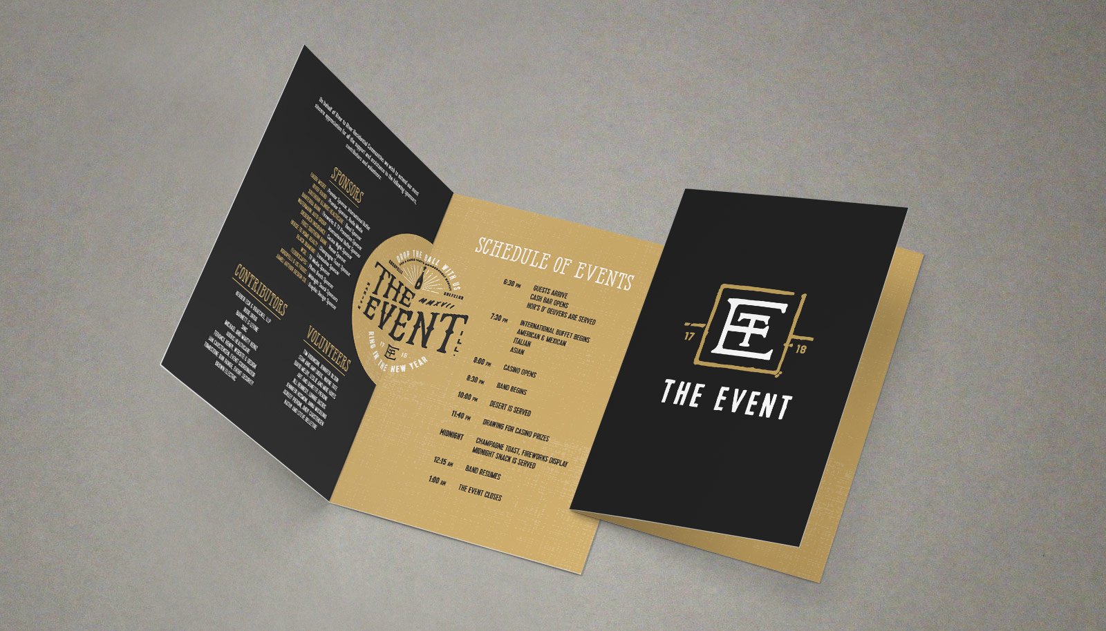 The Event New Years Eve Celebration Program Design