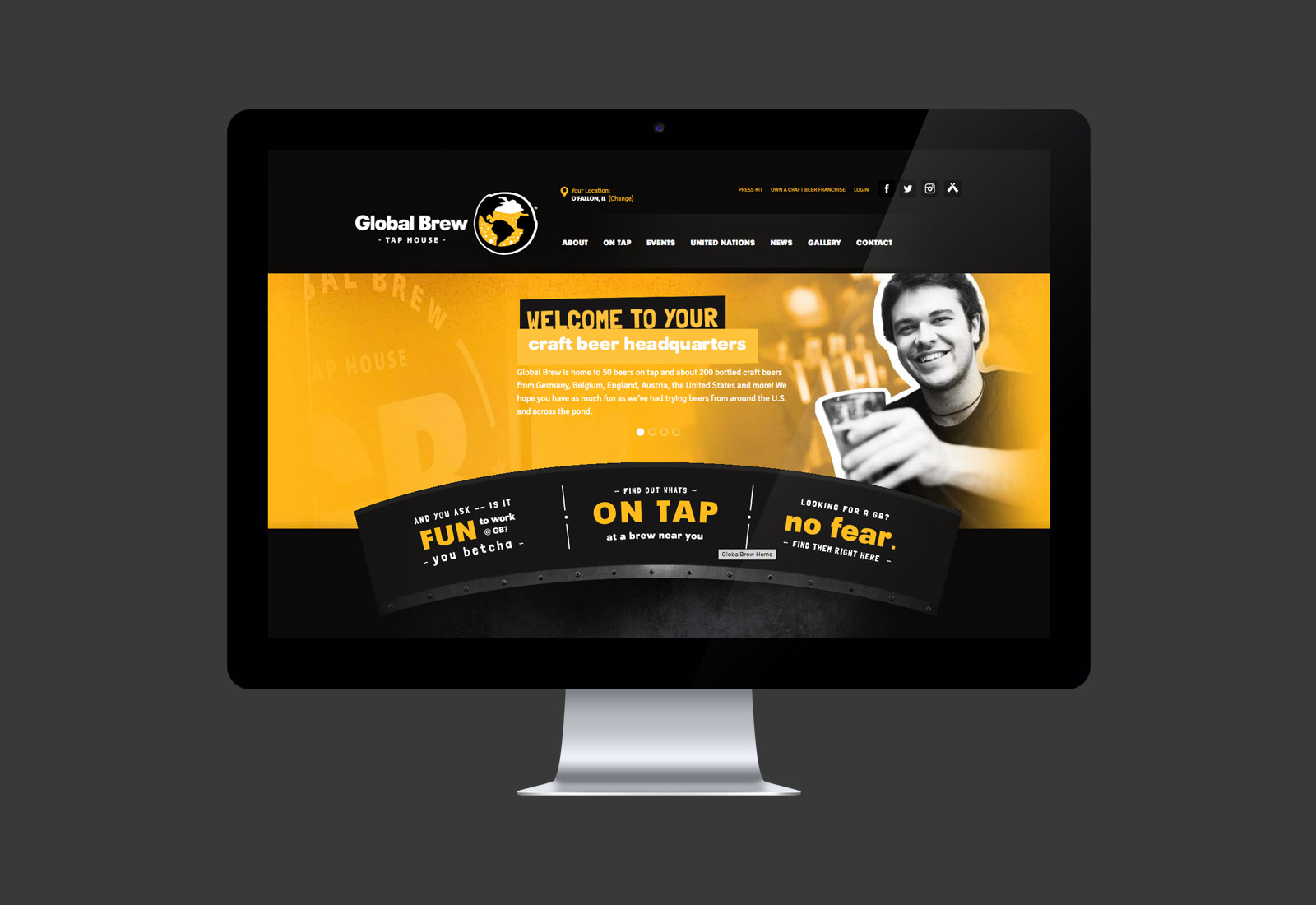 Global Brew Taphouse Website Design & Development