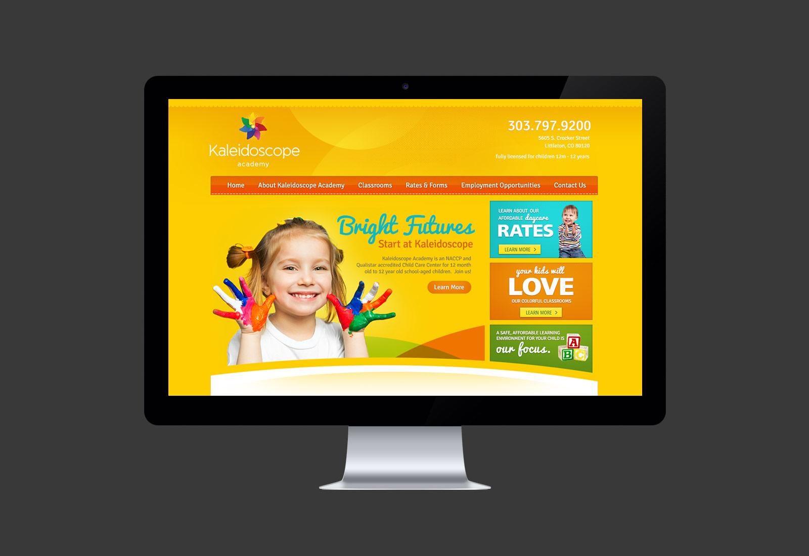 Kaleidoscope Kid Academy Website Design & Development
