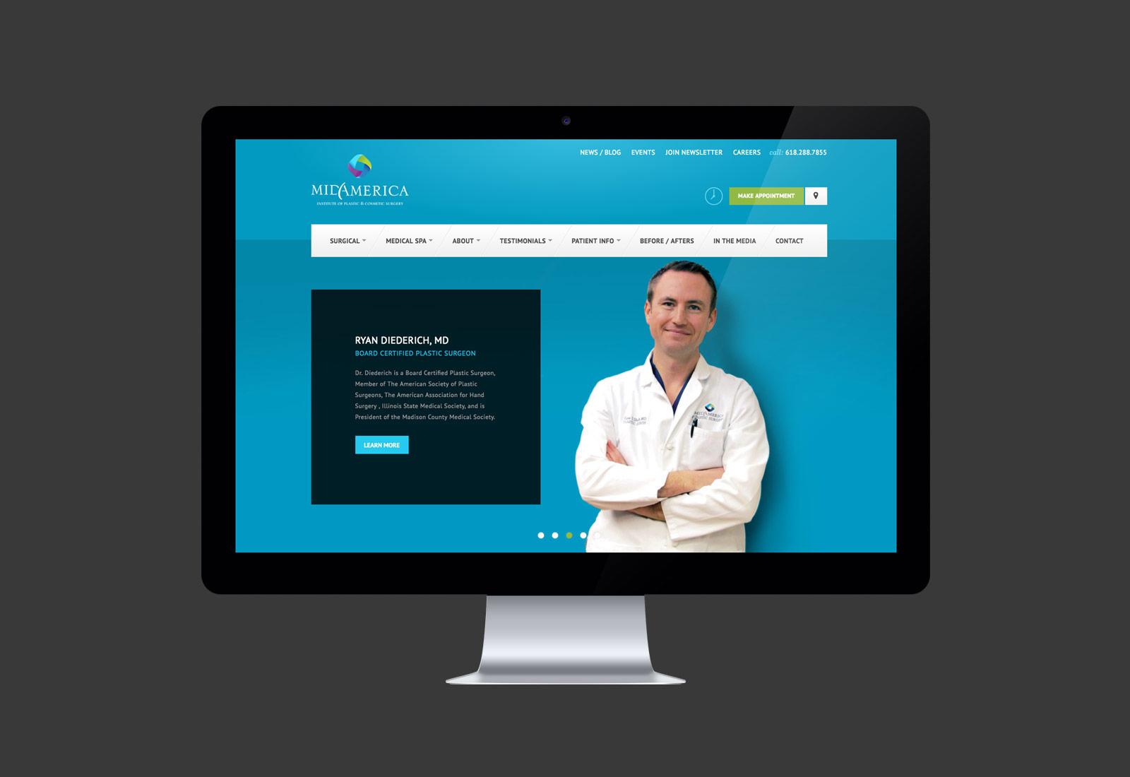 MidAmerica Plastic Surgery Website Design & Development