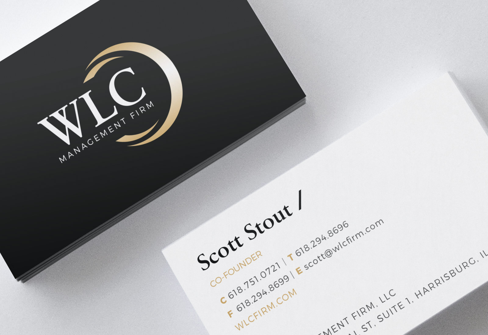WLC Management Firm Business Card Design & Layout
