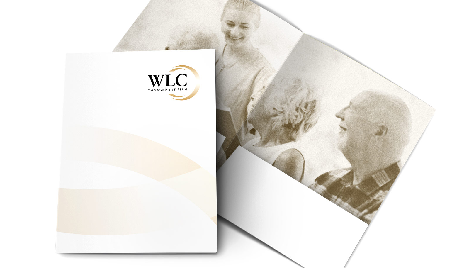 WLC Management Firm Promotional Folder Design