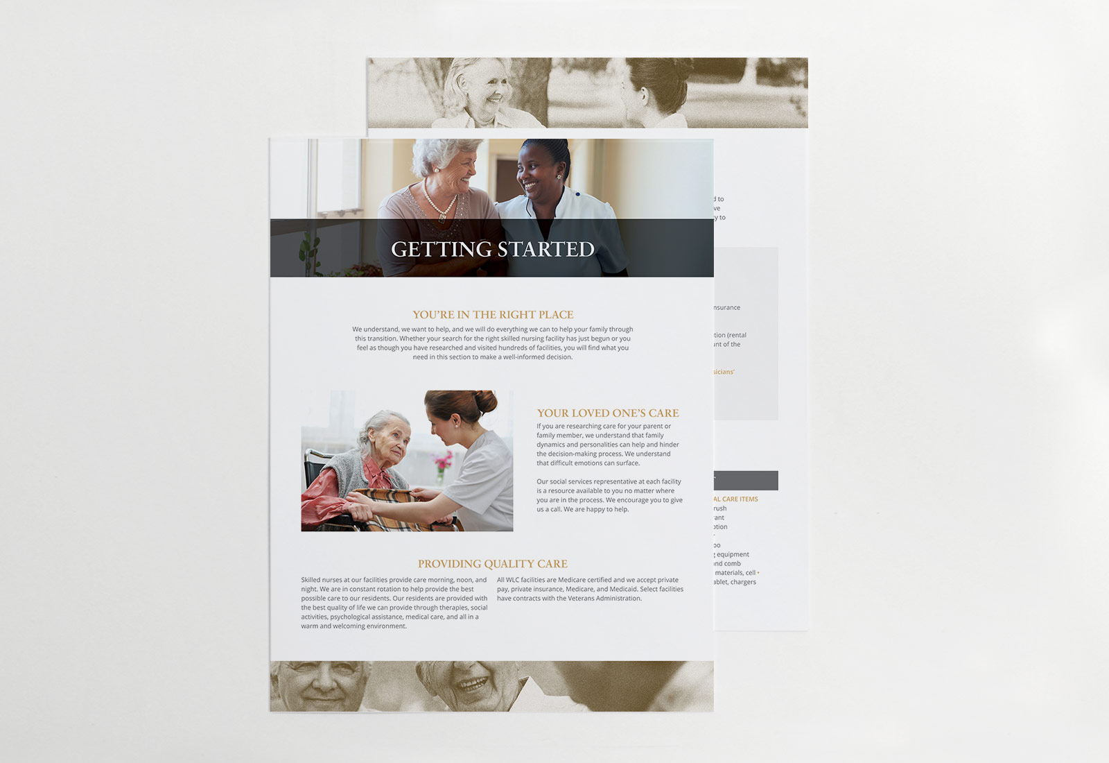Assisted Living Senior Living Facility Getting Started Flyer Design