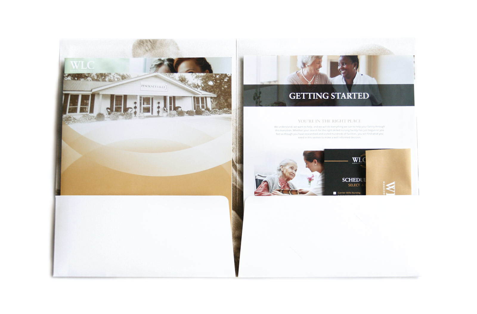 WLC Management Firm Promotional Folder Design View 2