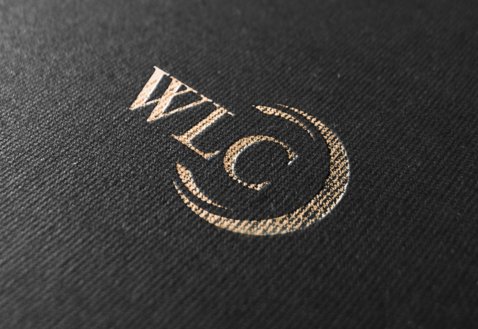 WLC Management Firm Logo Gold Foil Rendering
