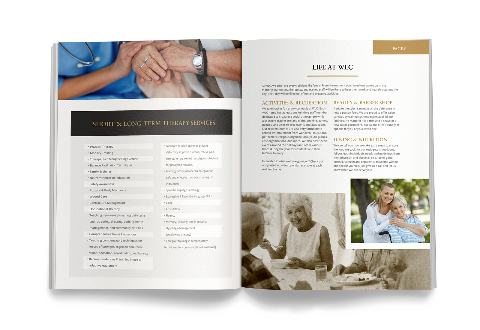 Assisted Living Senior Living Facility Brochure Design View 2