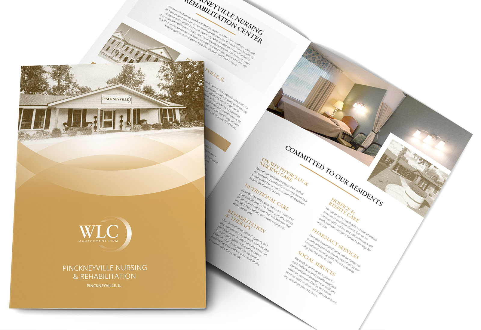 Assisted Living Senior Living Facility Brochure Design View 3