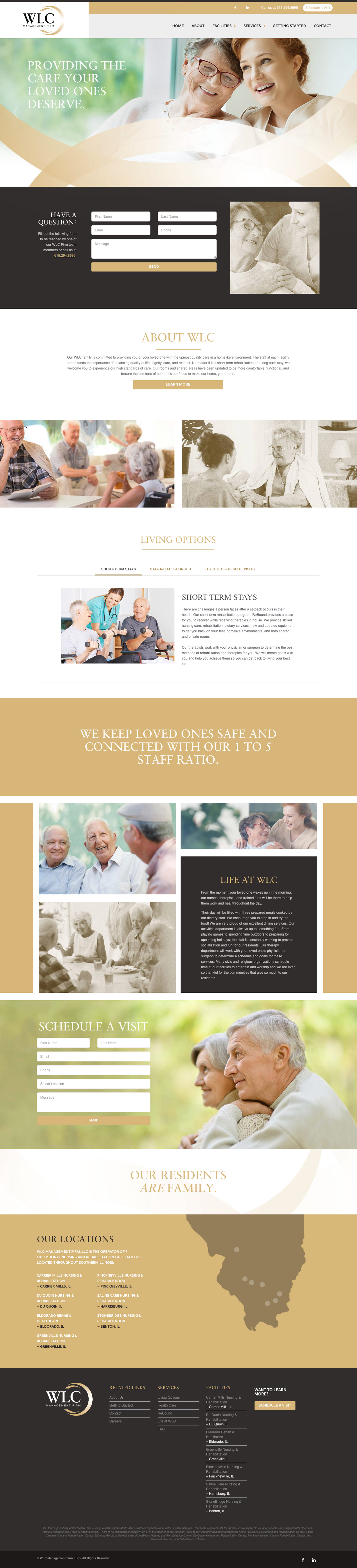 WLC Management Firm Responsive Website Design Scrolling Example
