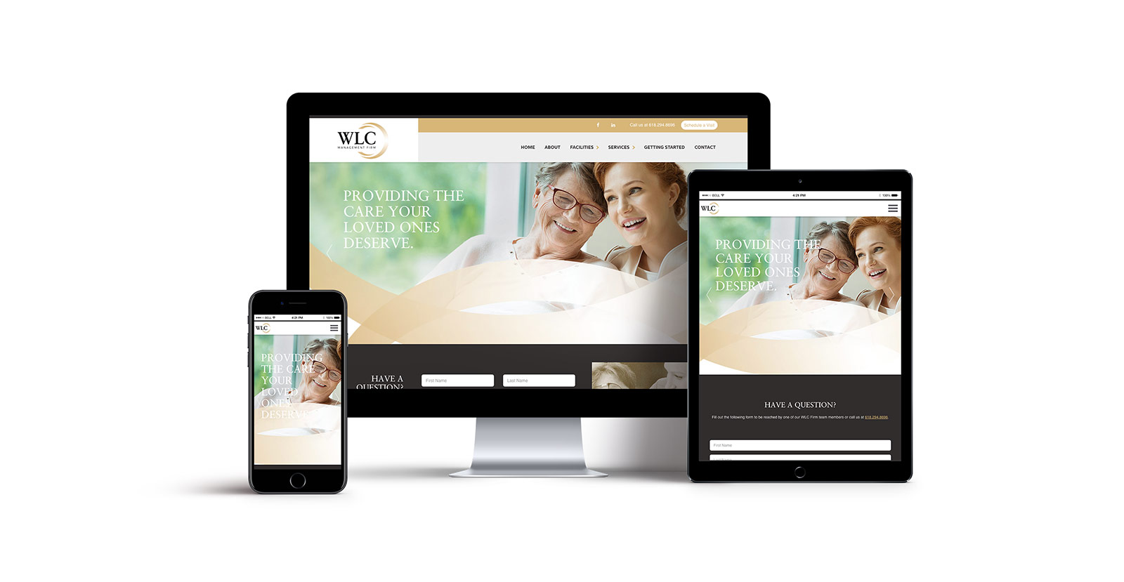 WLC Management Firm Responsive Website Design