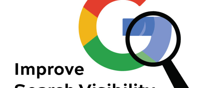 Improve search Visibility magnify glass on google logo
